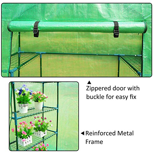 Outsunny-Outdoor-Portable-Walk-in-Greenhouse-Lightweight-Deck-with-Zippered-Door-0-1