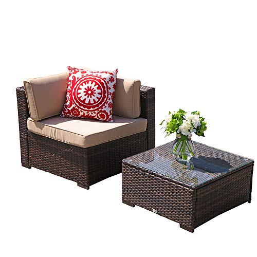 PATIOROMA-Outdoor-Patio-Furniture-Set-7-Piece-Sectional-Sofa-Set-All-Weather-Brown-Wicker-Furniture-with-Beige-CushionsGlass-Coffee-Table-Single-Sofa-Chair-0-0