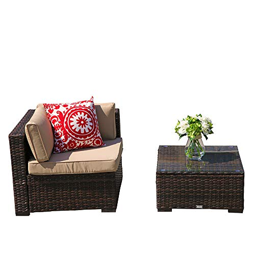 PATIOROMA-Outdoor-Patio-Furniture-Set-7-Piece-Sectional-Sofa-Set-All-Weather-Brown-Wicker-Furniture-with-Beige-CushionsGlass-Coffee-Table-Single-Sofa-Chair-0