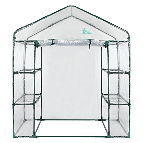 Palm-Springs-6-Shelf-Walk-in-Greenhouse-Cover-with-Roll-Up-Zipper-Door-0-0