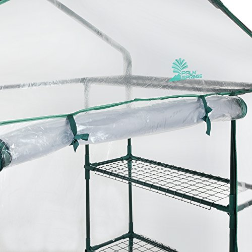 Palm-Springs-6-Shelf-Walk-in-Greenhouse-Cover-with-Roll-Up-Zipper-Door-0-2