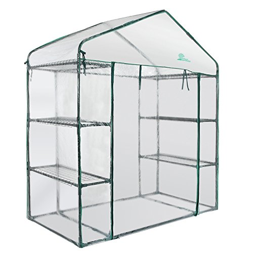 Palm-Springs-6-Shelf-Walk-in-Greenhouse-Cover-with-Roll-Up-Zipper-Door-0