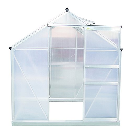 Palm-Springs-6ft-x-6ft-Aluminum-Walk-in-Greenhouse-with-polycarbonate-panels-0-0