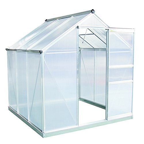 Palm-Springs-6ft-x-6ft-Aluminum-Walk-in-Greenhouse-with-polycarbonate-panels-0