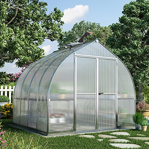 Palram-HG5408-Bella-Hobby-Greenhouse-8-x-8-Silver-0