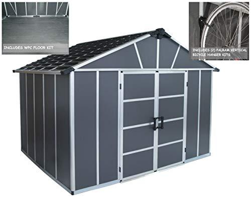 Palram-HGK122-Yukon-Storage-Sheds-wFloor-and-2-Bike-Hooks-0
