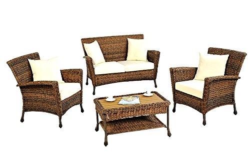 Patio-Furniture-Loveseat-Wicker-Rustic-Outdoor-Light-Brown-Rattan-Lounger-Garden-Conversation-Set-Skroutz-Deals-0-0