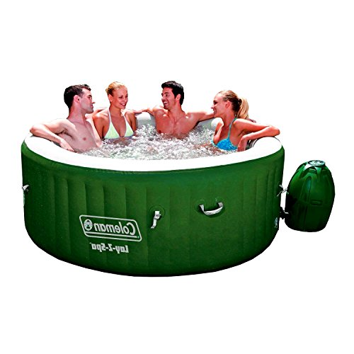 Patio-Inflatable-Spa-Portable-Massage-Bubbles-Relaxing-Large-Round-Fits-Four-to-Six-Person-Green-and-White-with-Handles-Cover-and-Electric-Pump-Strong-254-Galons-Water-eBook-by-EasyFunDeals-0