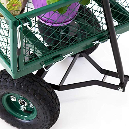 Peach-Tree-Garden-Cart-Utility-Yard-Wagon-with-Removable-Sides-with-a-Capacity-of-650-lb-Green-0-2