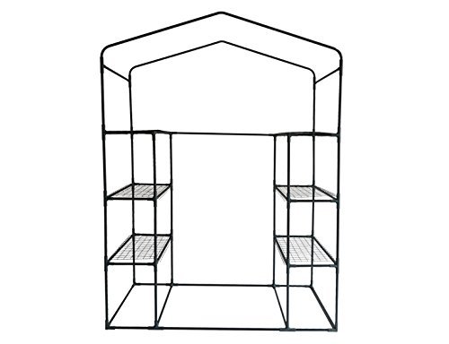 Peaktop-Portable-Mini-Greenhouse-Walk-in-Grow-Garden-Plant-Growing-Green-House-Small-Hot-Tent-4-Tiers-6-Shelves-78x56x30-Steel-Framework-with-Cover-0-0
