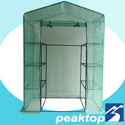 Peaktop-Portable-Mini-Greenhouse-Walk-in-Grow-Garden-Plant-Growing-Green-House-Small-Hot-Tent-4-Tiers-6-Shelves-78x56x30-Steel-Framework-with-Cover-0