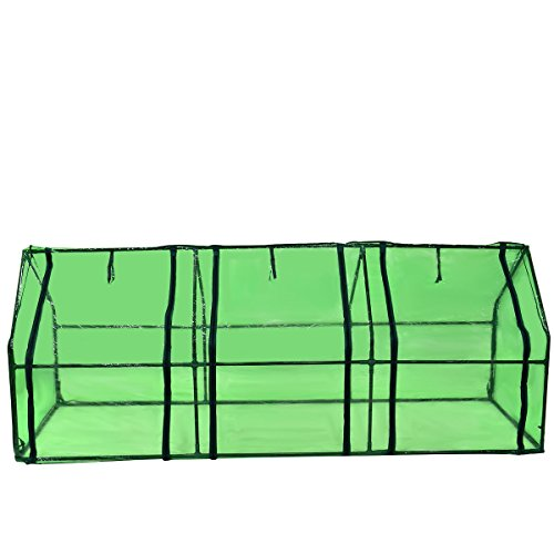 Picotech-Portable-Greenhouse-PVC-Cover-Heavy-Duty-Power-Coated-Steel-Pipe-Green-Strong-Frame-Stable-Clear-Sturdy-Durable-Lightweight-Roll-up-Door-Zipper-Large-Easy-Setup-home-gardeners-hobby-botanist-0-0