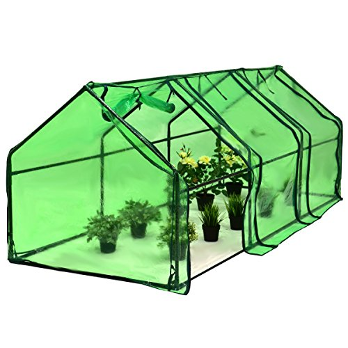 Picotech-Portable-Greenhouse-PVC-Cover-Heavy-Duty-Power-Coated-Steel-Pipe-Green-Strong-Frame-Stable-Clear-Sturdy-Durable-Lightweight-Roll-up-Door-Zipper-Large-Easy-Setup-home-gardeners-hobby-botanist-0