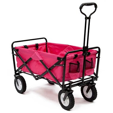 Pink-Mac-Sports-Collapsible-Folding-Utility-Wagon-Garden-Cart-Shopping-Beach-0-0