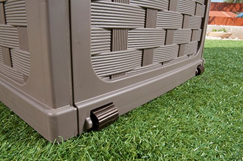Plastic-Garden-Storage-Box-with-Sit-on-Lid-Cushion-Box-Outdoor-Storage-Wicker-Deck-Box-Rattan-Design-Color-Brown-0-0