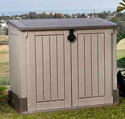 Plastic-Outdoor-Storage-Shed-30-CuFt-Color-BeigeTaupe-0