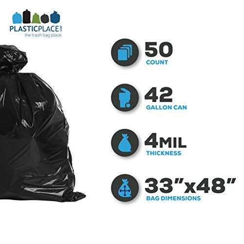 PlasticPlace-42-Gallon-Contractor-Bags-40-Mil-33W-x-48H-Black-50-case-0-0