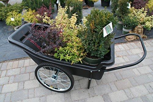 Polar-Trailer-8376-Utility-Cart-60-x-27-x-32-Inch-400-Lbs-Load-Capacity-10-Cubic-Feet-Tub-Spoked-Wheel-Tires-Rugged-Hauling-Design-Black-0-1