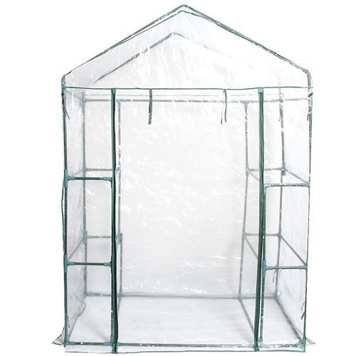 Portable-4-Shelves-Greenhouse-Outdoor-3-Tier-Walk-In-Green-House-New-0