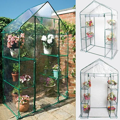 Portable-4-Shelves-Walk-In-Greenhouse-Outdoor-3-Tier-Green-House-0-0