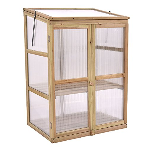 Portable-Double-Locking-Solid-Wooden-Garden-Greenhouse-Plants-Shelves-Protection-w-2-Doors-0-1