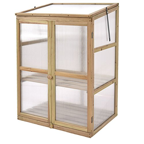 Portable-Double-Locking-Solid-Wooden-Garden-Greenhouse-Plants-Shelves-Protection-w-2-Doors-0-2