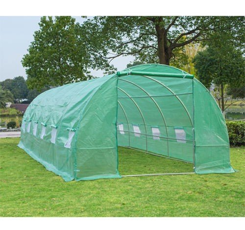 Portable-Green-Greenhouse-26-x-10-x-7-Flowers-Plant-Outdoor-Walk-In-Garden-With-Ebook-0-0