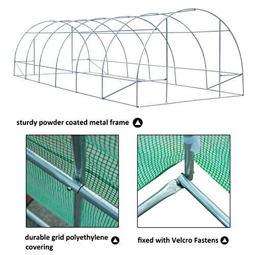 Portable-Green-Greenhouse-26-x-10-x-7-Flowers-Plant-Outdoor-Walk-In-Garden-With-Ebook-0-1
