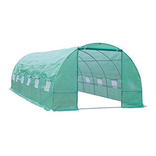 Portable-Green-Greenhouse-26-x-10-x-7-Flowers-Plant-Outdoor-Walk-In-Garden-With-Ebook-0