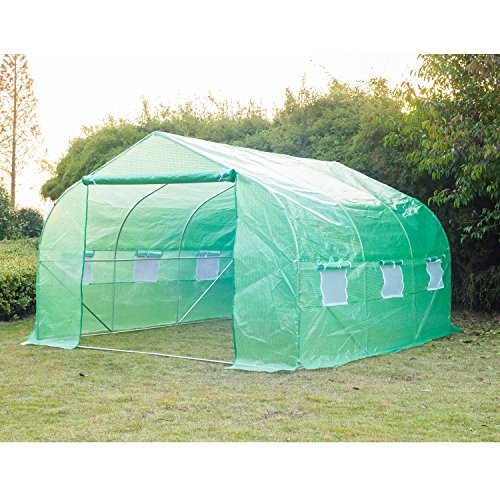 Portable-Greenhouse-12-x-10-x-7-Walk-In-Flowers-Plant-Outdoor-Garden-Green-With-Ebook-0-0