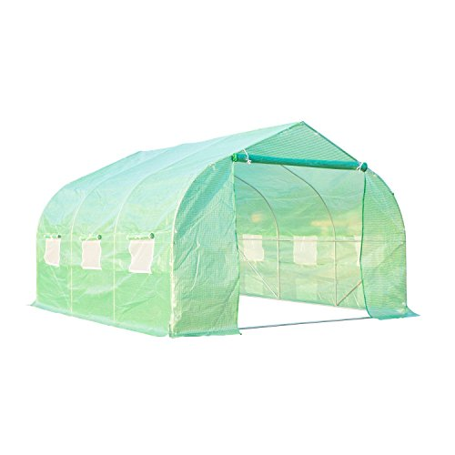Portable-Greenhouse-12-x-10-x-7-Walk-In-Flowers-Plant-Outdoor-Garden-Green-With-Ebook-0
