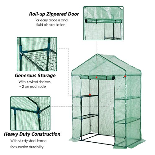 Portable-Greenhouse-Walk-In-Green-House-Outdoor-Year-Around-Plant-Gardening-56-x-30-x-78-0-2