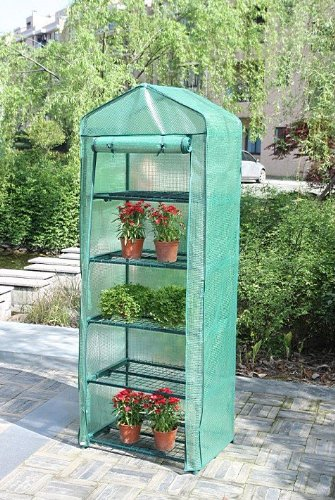 Portable-Greenhouse-Wshelves-5-Tier-Green-House-New-Polyethylene-Cover-0
