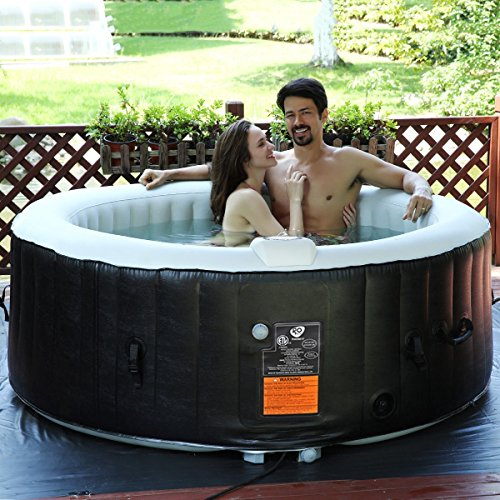 Portable-Inflatable-Bubble-Massage-Spa-Hot-Tub-4-Person-Relaxing-Outdoor-Black-0