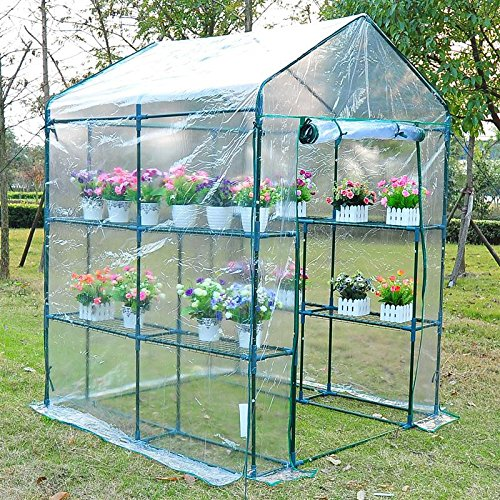 Portable-Walk-In-Greenhouse-5-x-5-x-6-Flower-Shelves-Outdoor-Garden-Plant-With-Ebook-0-1
