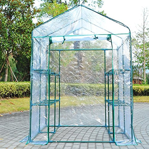 Portable-Walk-In-Greenhouse-5-x-5-x-6-Flower-Shelves-Outdoor-Garden-Plant-With-Ebook-0
