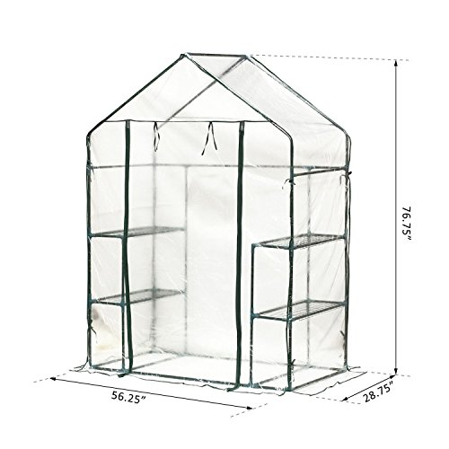Portable-Walk-In-Greenhouse-Clear-PE-Cover-Plant-Flower-Outdoor-Garden-With-Ebook-0-1