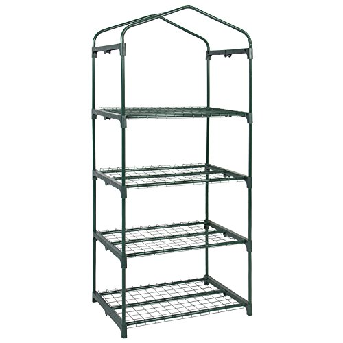 Powder-Coated-Steel-Bars-and-a-Polyethylene-Plastic-cover-4-Tier-Mini-Greenhouse-27-Long-x-18-Wide-x-63-High-Ideal-for-Gardening-Lover-0-2