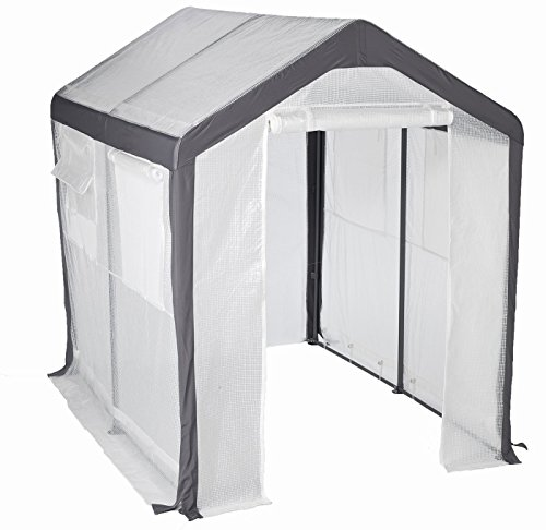 Premium-Mini-Greenhouse-Miniature-Plastic-Gardening-Cover-Portable-for-Patio-or-Backyard-in-Small-6×8-Shed-Frame-0