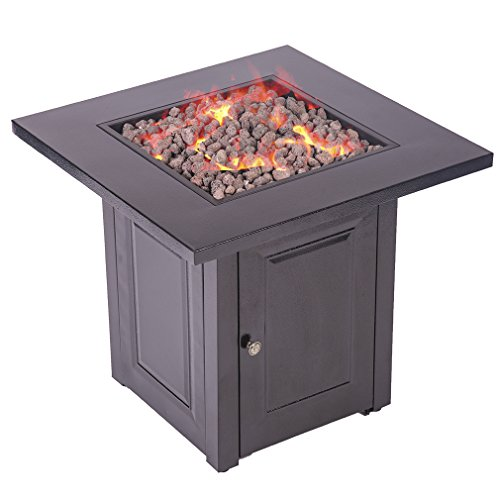 Propane-Fire-Pit-Patio-Heaters-Antique-Hammered-Bronze-Finish-Outdoor-Gas-Table-0