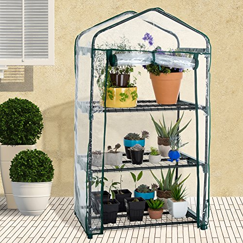 Pure-Garden-3-Tier-Mini-Greenhouse-with-Cover-275-x-19-x-50-inches-0-1