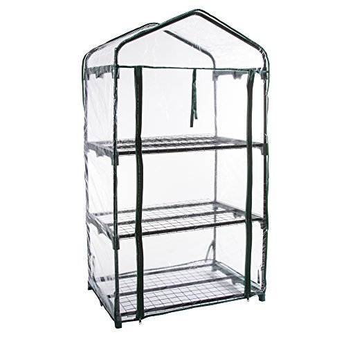 Pure-Garden-3-Tier-Mini-Greenhouse-with-Cover-275-x-19-x-50-inches-0-2