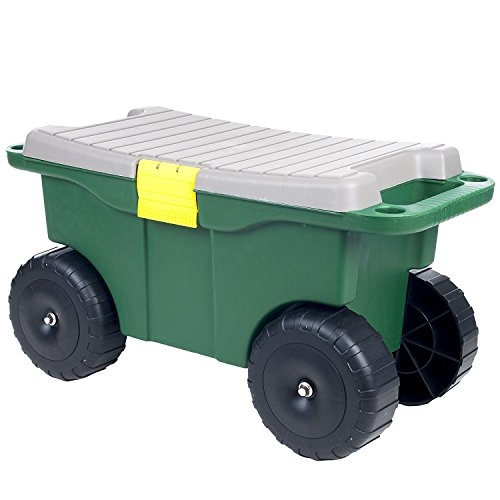 Pure-Garden-75-MJ2011-20-Plastic-Garden-Storage-Cart-Scooter-0-0