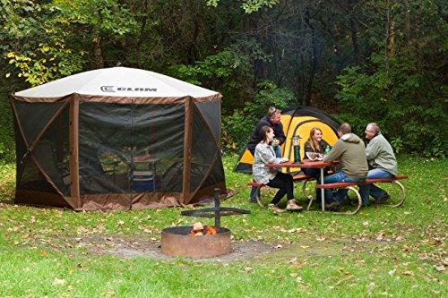 Quick-Set-10730-Escape-Canopies-X-Large-150-x-150-Inch-Portable-Popup-Gazebo-Tent-6-8-Person-Brown-0-0