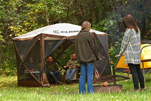 Quick-Set-10730-Escape-Canopies-X-Large-150-x-150-Inch-Portable-Popup-Gazebo-Tent-6-8-Person-Brown-0-2