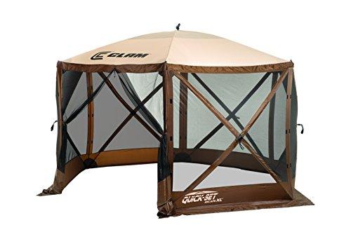 Quick-Set-10730-Escape-Canopies-X-Large-150-x-150-Inch-Portable-Popup-Gazebo-Tent-6-8-Person-Brown-0