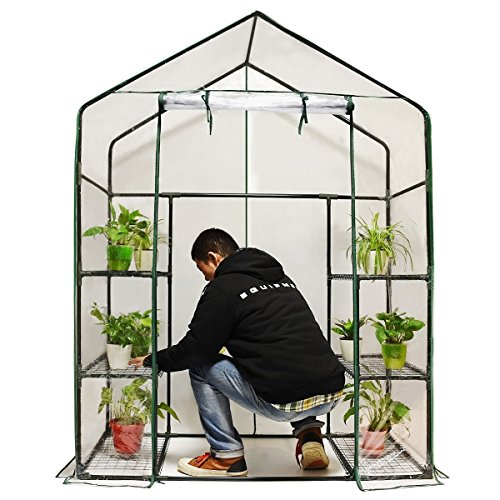 Quictent-Greenhouse-Mini-Walk-in-3-Tiers-6-Shelves-102lbs-Max-Weight-Capacity-Portable-Plant-Garden-Outdoor-Green-House-56x29x77-0