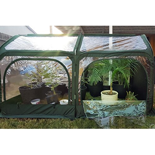 Quictent-Pop-up-Greenhouse-Fiberglass-Poles-Updated-Extra-Thick-Cover-Outdoor-Garden-Flower-Mini-Green-House-4-Doors-2-Vents-98x49x53-Green-0-0