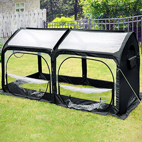 Quictent-Pop-up-Greenhouse-Passed-SGS-Test-Eco-Friendly-Fiberglass-Poles-Overlong-Cover-Six-Stakes-98x49x53-Mini-Portable-Green-House-0