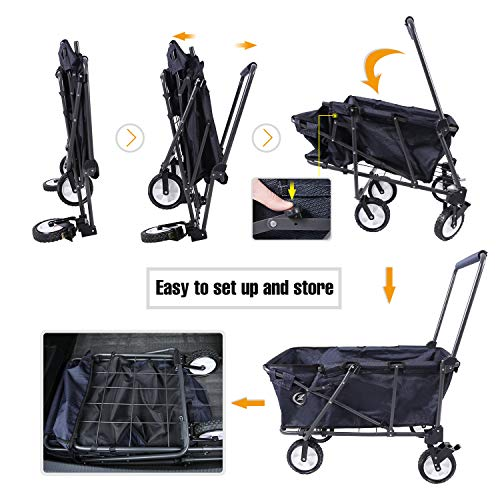 REDCAMP-Collapsible-Wagon-Cart-1200D600D-Canvas-Folding-Utility-Wagon-All-Terrain-Outdoor-Sports-0-2